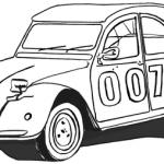 dessin 2cv coloriage 007