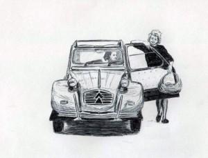 dessin 2cv coloriage