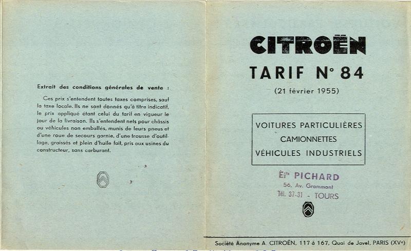 prix 2cv francs