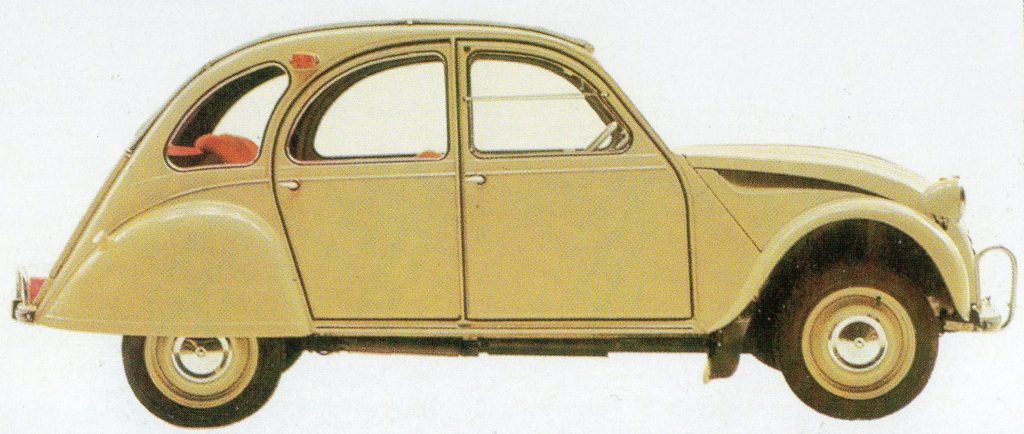 2cv azam 1967 3eme vitre de custode