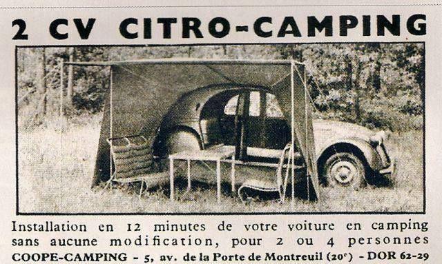 2cv citro camping