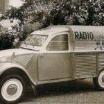 2cv fourgonnette publicitaire RADIO