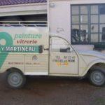 2cv fourgonnette publicitaire PEINTURE MARTINEAU