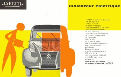JAEGER indicateur électrique panne d'essence 2cv