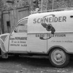 2cv fourgonnette publicitaire SCHNEIDER
