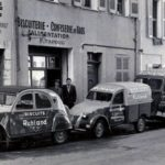 2cv fourgonnette publicitaire BISCUITS RUHLAND