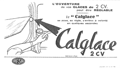 calglace 2cv ouverture glaces réglable