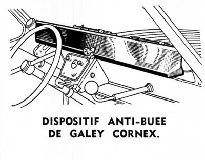 dispositif anti buée 2cv GALEY CORNEX
