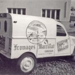 2cv fourgonnette publicitaire FROMAGES MARCILLAT