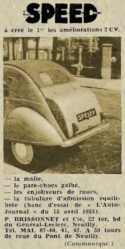 fabriquant speed 2cv