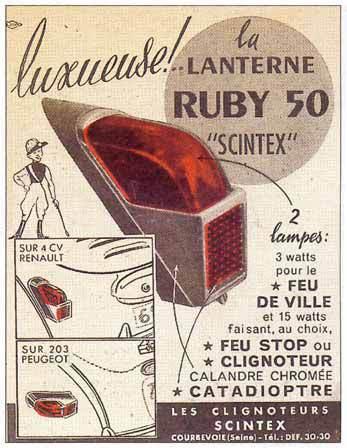 la lanterne ruby 50 2cv clignoteurs scintex