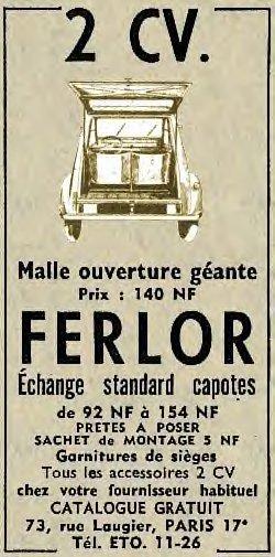 malle ouverture geante FERLOR 2cv