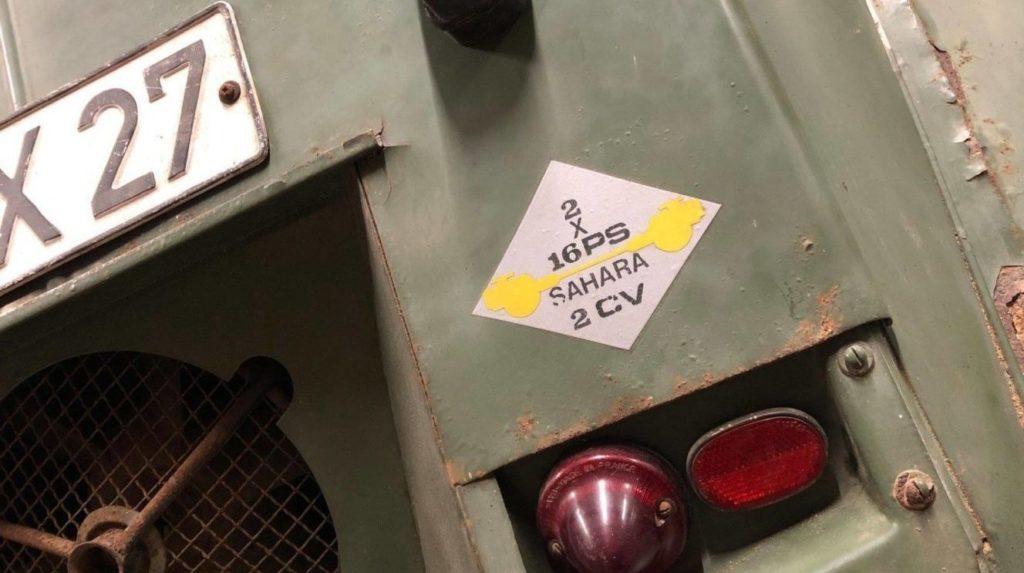 porte de malle 2cv sahara