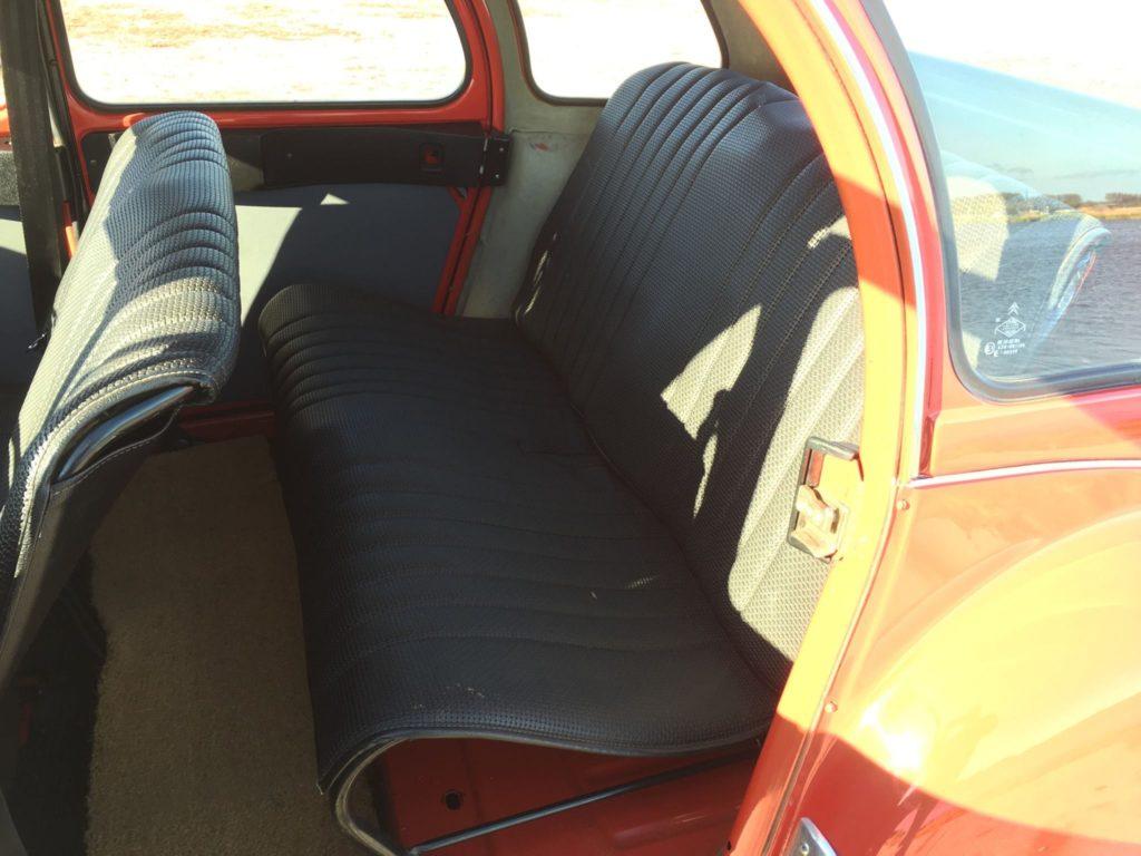 Garniture sièges sellerie 2cv