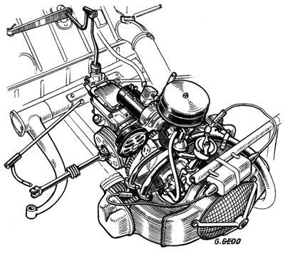 moteur 2cv dessin