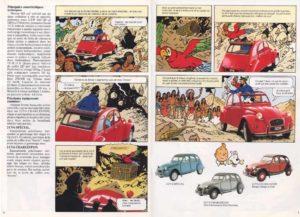 les aventures de la 2cv et de la grotte publicite