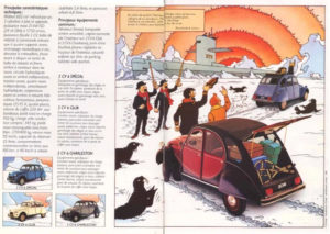 page-homme-des-neiges tintin 2cv