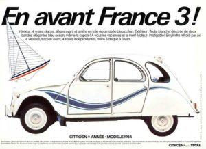 depliant 2cv france 3 1984