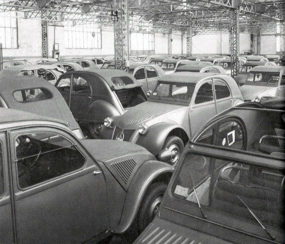 parking usine citroen levallois 2cv