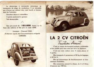 brochure salon 2cv 1948