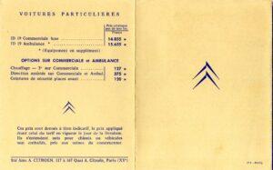 catalogue prix 2cv 1964