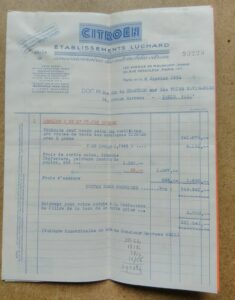 facture 2cv