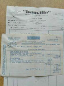 facture 2cv 1954